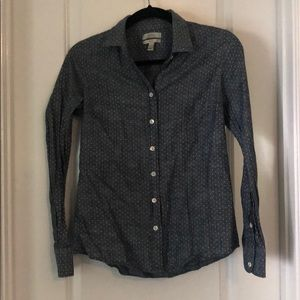 Jcrew perfect pindot chambray shirt